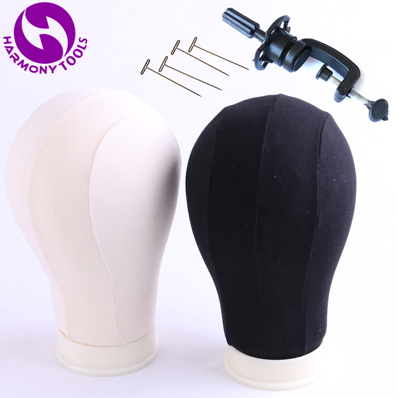 ( 21/22/23/24/25 ) 1 Piece Off-white Beige OR Black Canvas Block Mannequin Head Cotton Canvas Head For Making Wigs смеситель для кухни d lin d157458