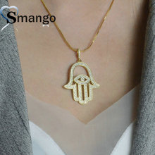 Women Fashion Shape Of Hand Connectors CZ Prong Setting Necklace,Four Plating Colors,Can Mix 5Pieces