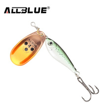 ALLBLUE Long Casting Minnow Super Spinner 9g/13g/18g Spinners Fishing Lure Longcast Artificial Bait 5 Colors Available