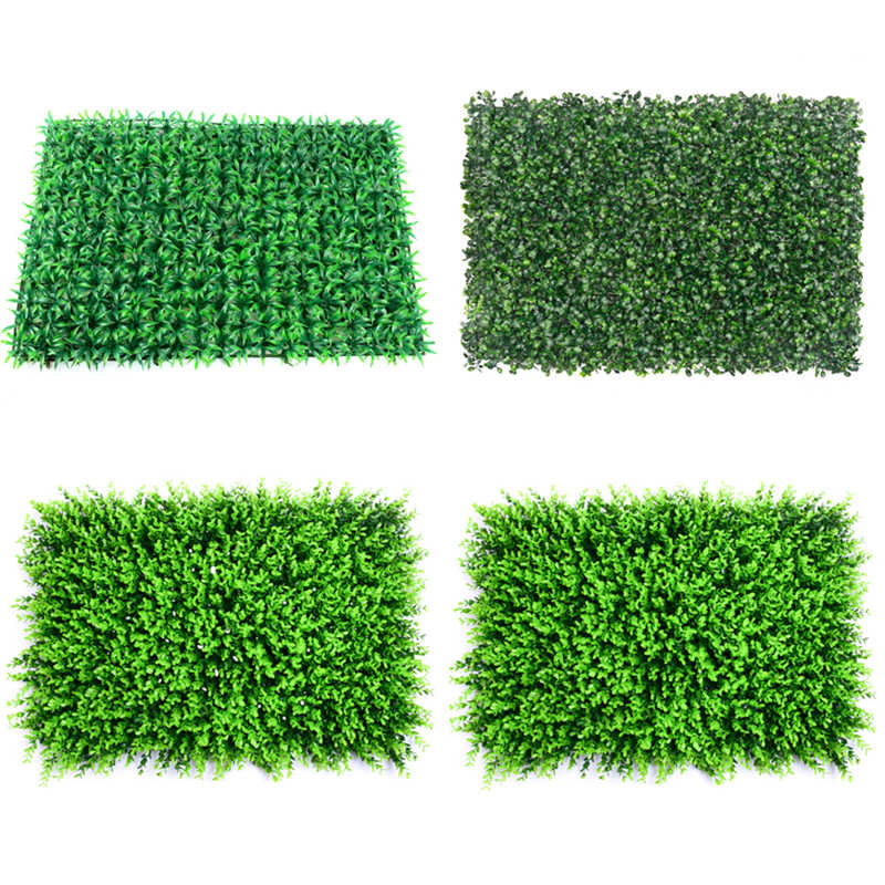 40x60cm Grass Mat Green Artificial Plant Lawns Landscape Carpet Fake Grass Party Wedding Supply for Garden free shipping