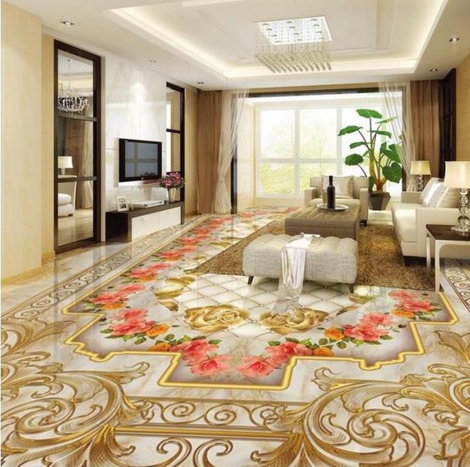 green 3d vinyl flooring custom 3d wallpaper Rose Marble wallpaper on the floor waterproof self adhesive floor wallpaper  сайдинг vinyl on софит с центральной перфорацией 3660х305 мм белый