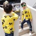 Nueva estrella de los bebés con capucha & sweatershirt niños cabritos de la camiseta cothes 2016 marca sudaderas con capucha para niños pullover hoodies coat tamaño 2-7y