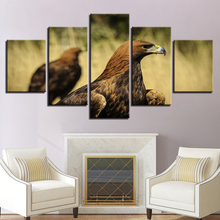 HD Printing Modular Canvas Pictures Frame Art 5 Pieces Animals Eagle Landscape Paintings Decoration Home Living Room Wall Poster