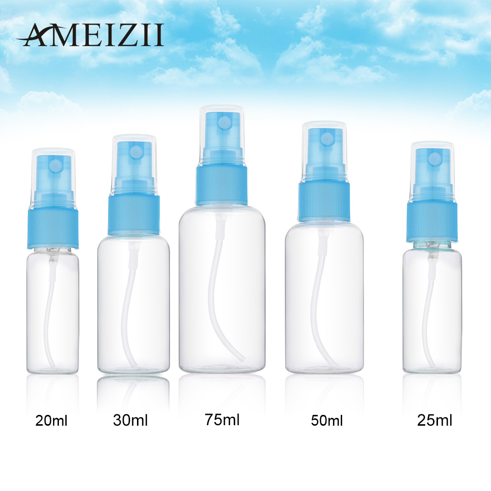 AMEIZII 1 PCS 20ml 25ml 30ml 50ml 75ml Random Color Travel Transparent Plastic