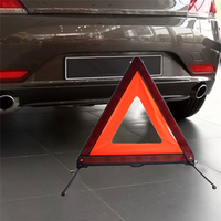 Reflective Triangle Car Safety Warning Emergency Road Signs Flasher Illumination Sign Triangle Warning Safety Reflector
