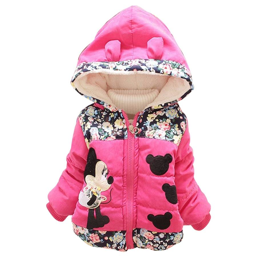 Big Size 2018 Autumn & Winter Children Minnie Hoodies Jacket & Coat Baby Girls Clothes Kids Toddle Outerwear Warm Coat