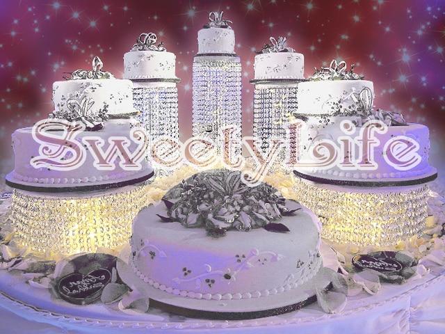 7pcsset Crystal Transparent Cake Holder Group Diameter 59118