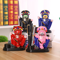Coloffice New Sichuan Opera Face Doll Pen Holders Painted Ornaments Pencil Stand Container Stationary Study Round