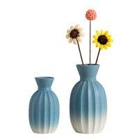 Simple Nordic Geometric Ceramic Small Vase Ins Home Decorations Dried Flowers Arrangement Living Room Porcelain Ornaments