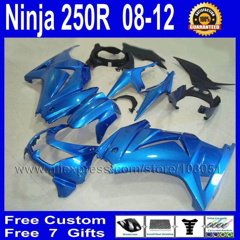 7 gifts free road Fairing for Kawasaki 2008 2012 2013 ninja 250R metal blue ZX250R EX250 EX250R 08 09 10 11 13  fairings kit автоматическая кормушка feed ex pf7b blue для животных