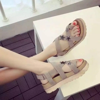 Non Slip Women Platform Female Thick Sole Shoes Flats Lady Ankle Strap Footwear Hook Loop Woman