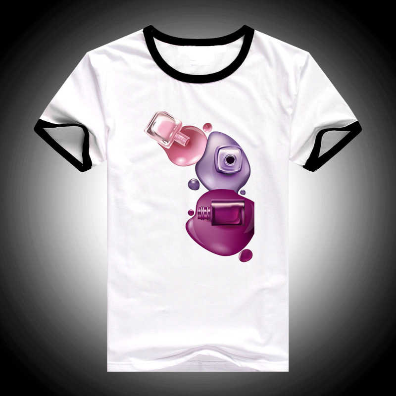 2019 Musim Panas Atasan Wanita Baju Korea Wanita Fashion Cat Air Cat Kuku Dicetak Tshirt Femme Camiseta Mujer Tumblr T Shirt