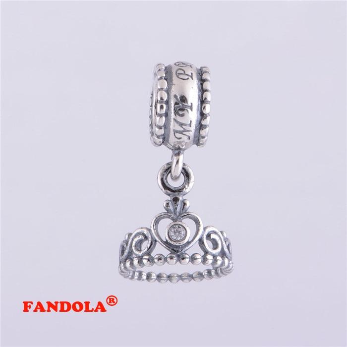 Fits Pandora Bracelet My Princess Tiara Dangle Charm Beads