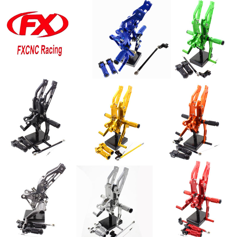Adjustable Motorcycle Foot Rests Rear Sets Foot Pegs Fit for HONDA MSX125 MSX 125 2012 2013 2014 2015 Rearset Accessories titanium cnc aluminum racing adjustable rearset foot pegs rear sets for yamaha mt 07 fz 07 mt07 fz07 2013 2014 2015 2016
