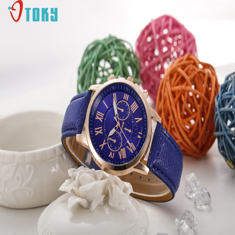 Excellent Quality Watches Women Dress Fashion Leather Geneva Rome Digital Wristwatch Men Quartz Watch Personality Casual Relogio
