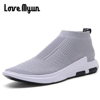 2018 spring New mens fashion sneakers casual Mesh Breathable shoes Lovers slip on lightweight shoes big size dropshipping WD 15