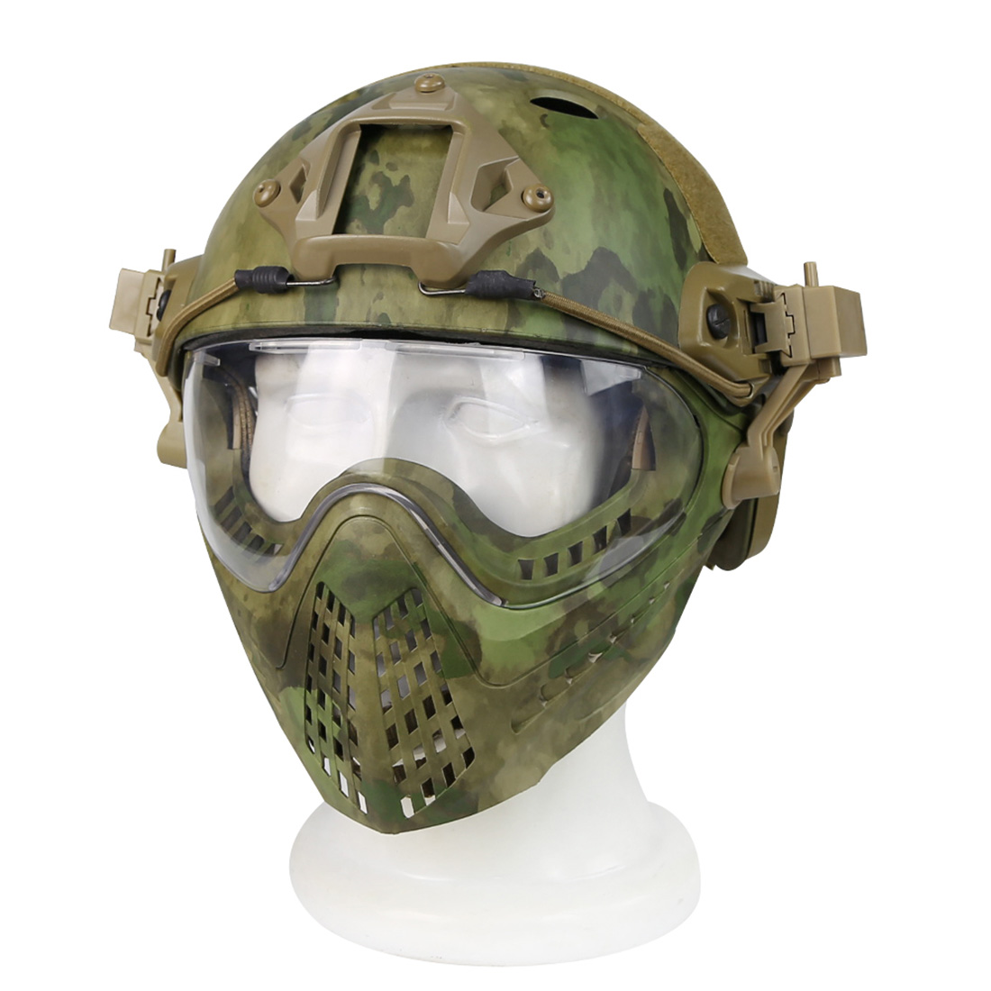 купить Surwish Navigator Tactics Camouflage Protecting Helmet for Nerf/ for Airsoft Outdoors Activities по цене 6358.45 рублей