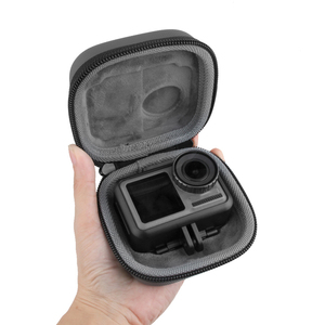 Image 2 - Sports camera mini Carrying case protection bag Portable box with D Keychain buckle for dji OSMO ACTION camera Accessories