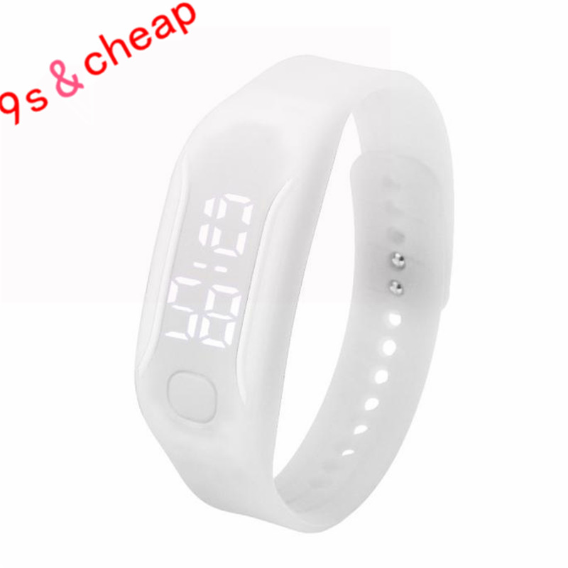 Fashion LED Sports Running Watch Date Rubber Bracelet Digital Wrist Watch Brand New High Qulity Luxury Free Shipping 0717