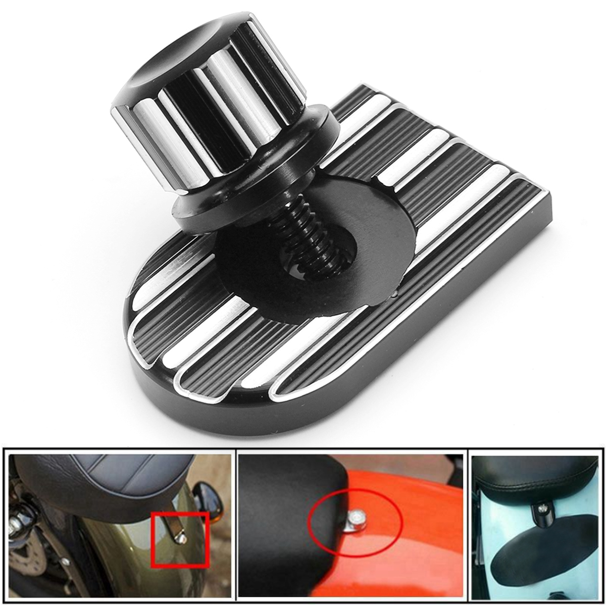 New Motorcycle Rear for Fender Seat Bolt Tab Screw Mount Knob Cover Kit Aluminum CNC for Harley Touring Dyna 1996-2017New Motorcycle Rear for Fender Seat Bolt Tab Screw Mount Knob Cover Kit Aluminum CNC for Harley Touring Dyna 1996-2017