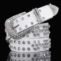 Fashion Women Ladies Rhinestone Belt Faux Leather Cowgirl Style Bling Crystal Wide Waistband Classic 200-281