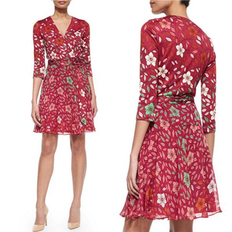 cou Portefeuille Vintage Soie Lait Patchwork Blossom Multi En Femme Cerise V Robe Mousseline Robes 2019 D'été De Imprimer Dames TvdqYP