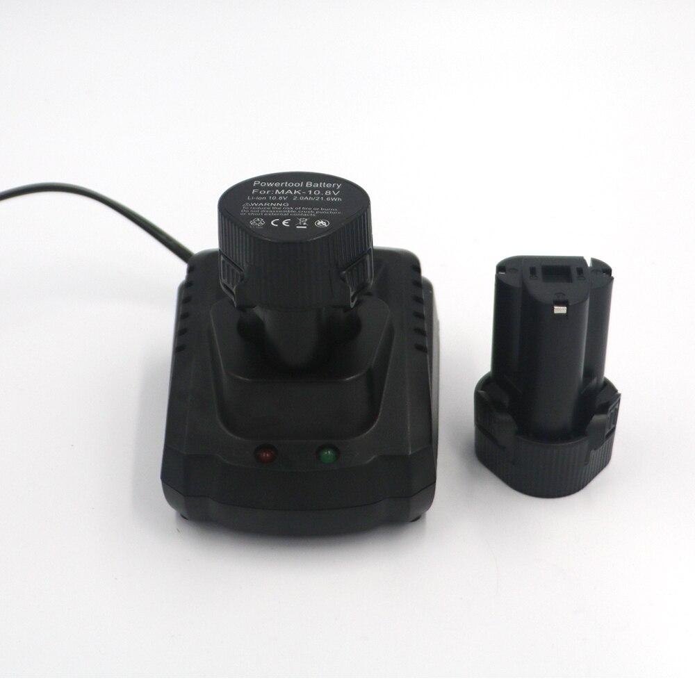 2 pièces BL1013 BL1014 10.8 V 2.0A Li-ion Batterie avec mini Chargeur De Batterie pour Makita DC10WA Perceuse Électrique Tournevis Outils Électriques