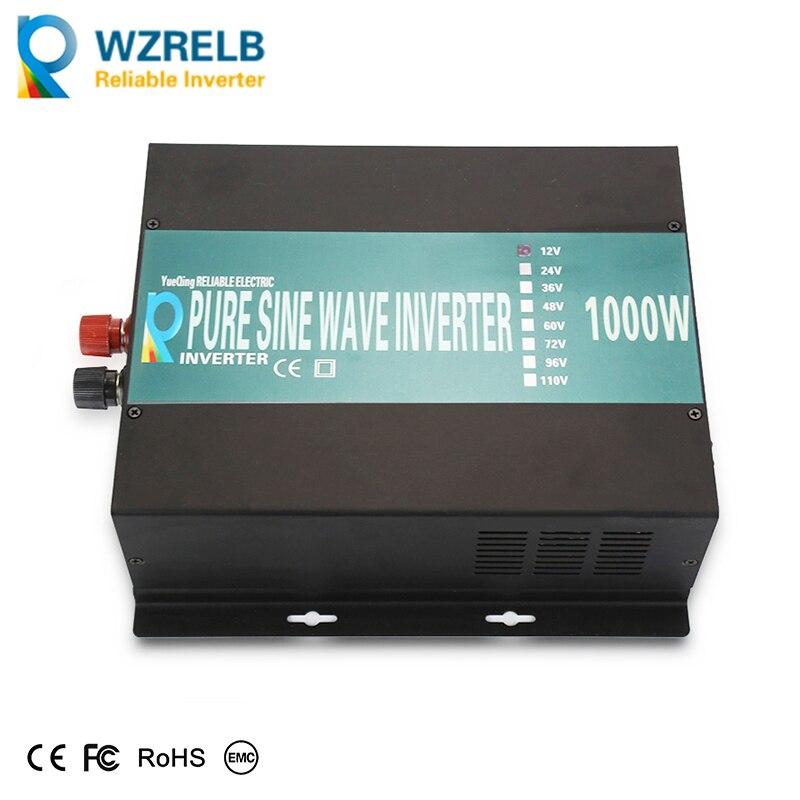 CE EMC 1000W Off Grid DC to AC Converter 12V 24V 48V to100V 110V 120V 200V 220V Pure Sine Wave Solar Power Inverter solar power inverter 1000w 12v 220v pure sine wave inverter generator car battery pack converter 12v 24v dc to 110v 120v 240v ac