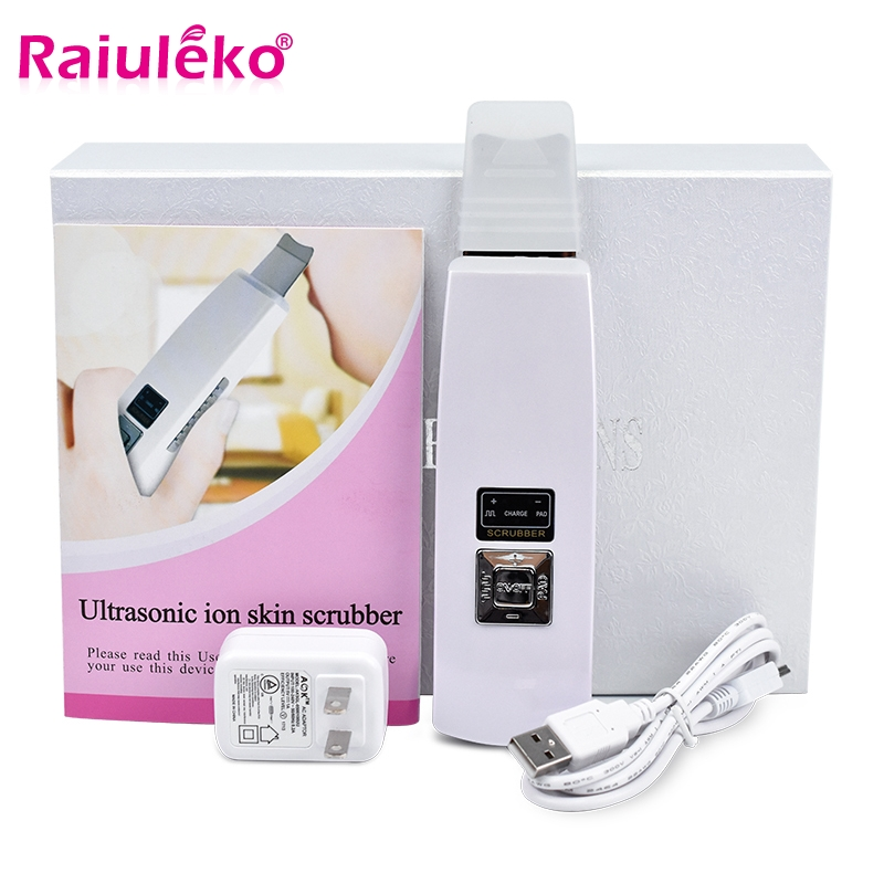 Ultrasound Face Cleaning Beauty Scrubber Acne Removal Portable Stripping Facial Cleaner Deep Cleaning Skin Care Peeling