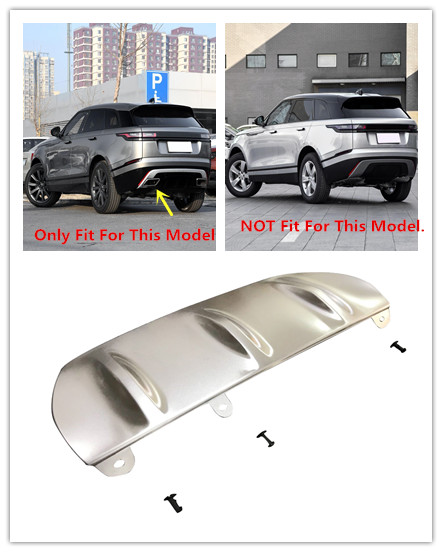 Rear Bumper Skid Protector Guard Plate Stainless Steel Matte 1 Piece For Land Rover Range Rover Velar 2017-2018 коврики в салон land rover range rover evoque 2011