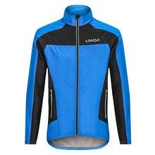 Мужская зимняя куртка Lixada для велоспорта, ветрозащитная теплая флисовая куртка с длинным рукавом для езды на велосипеде, велосипедная штормовка, одежда для велоспорта, куртка