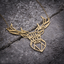 hot deal buy animal necklace deer necklace, deer antler pendant animal necklace jewelry ylq0543