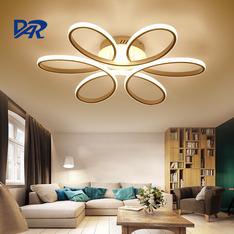Fashion White Acrylic Modern Led Ceiling Lights For Living Room Luminaria Led Ceiling Lighting Fixtures Lustre