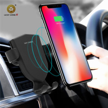 Qi Wireless Car Charger Mount Phone Quick Charge 3.0 Fast Use For Samsung  iPhone 8,X HTC Nexus