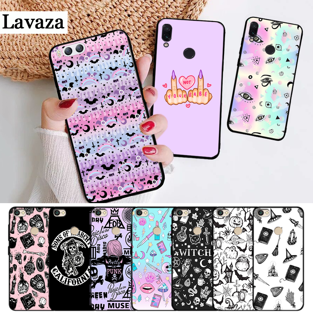 Lavaza Girly Pastel Witch Goth Luxury Silicone <font><b>Case</b></font> for Xiaomi Redmi 4A 4X 5A 5 Plus S2 6 6A 7A <font><b>K20</b></font> Note 4 7 <font><b>Pro</b></font> Prime Go image