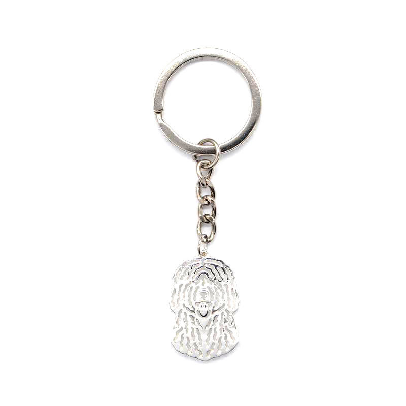 2019 Lovers' Spanish Water Dog Key Chains Women Silver Plated Alloy Jewelry Key Chains
