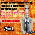 Free shipping Stainless Steel Electric Heating Home Wine Brewing Equipment Double Thicken Bottom Distillation/Boiler