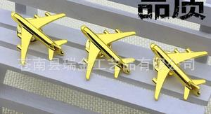 Image 4 - 50pcs/lot Airplane Badge Brooches Golden Aircraft Plane Brooched Badge Suit Fashion Jewelry Gift Plating High Quality W/O boxes