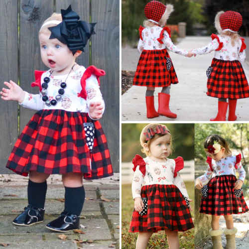 e2b5f2986cea6 Detail Feedback Questions about 2018 New Xmas Style Kid Girl Dress ...