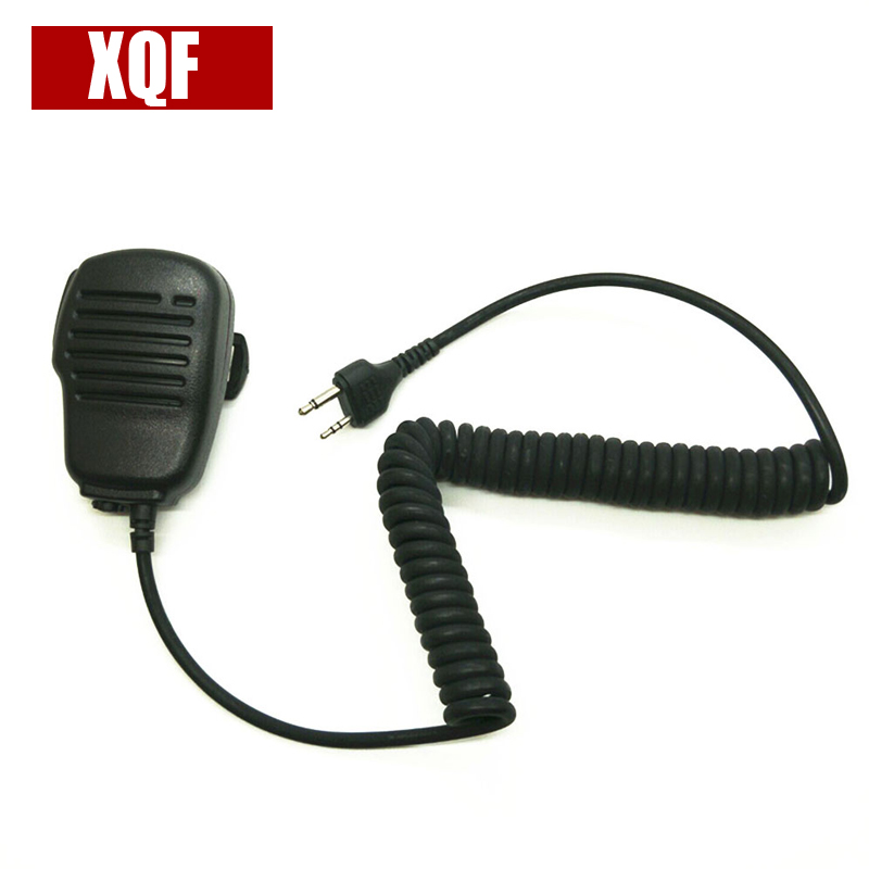 XQF 10PCS  Frosted Shell PTT Handheld Shoulder Speaker MIC For MIDLAND G6/G7/G8/G9 GXT550 GXT650 LXT80 Radio Walkie Talkie
