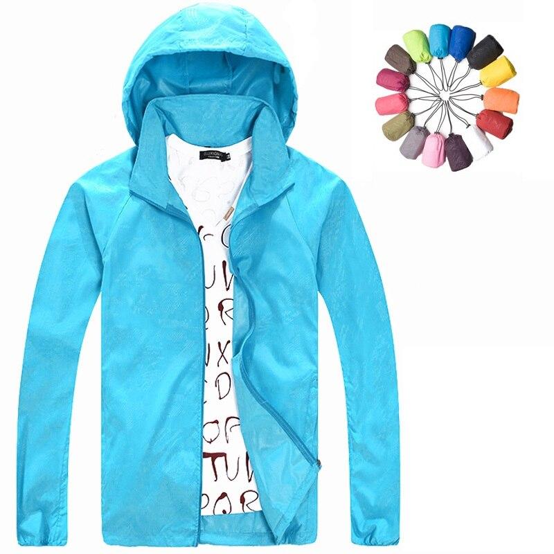 2017 Nuovi uomini Donne Campeggio Trekking Cappotti di marca Escursionismo Outdoor Jacket Quick Dry impermeabile Protezione UV Sport Giacche pelle