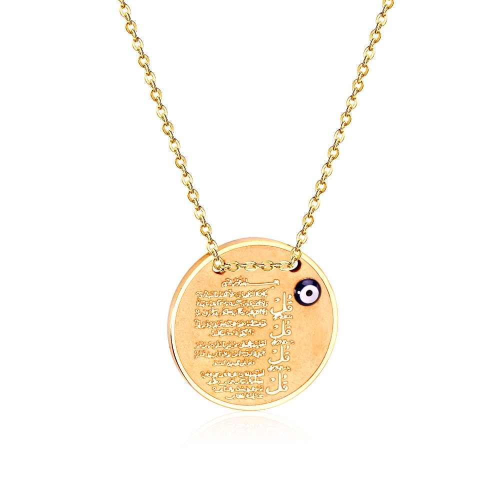 LUXUKISSKIDS Brand New Scriptures Pendant Necklaces With Eyes Shape Stainless Steel Fashion Necklaces