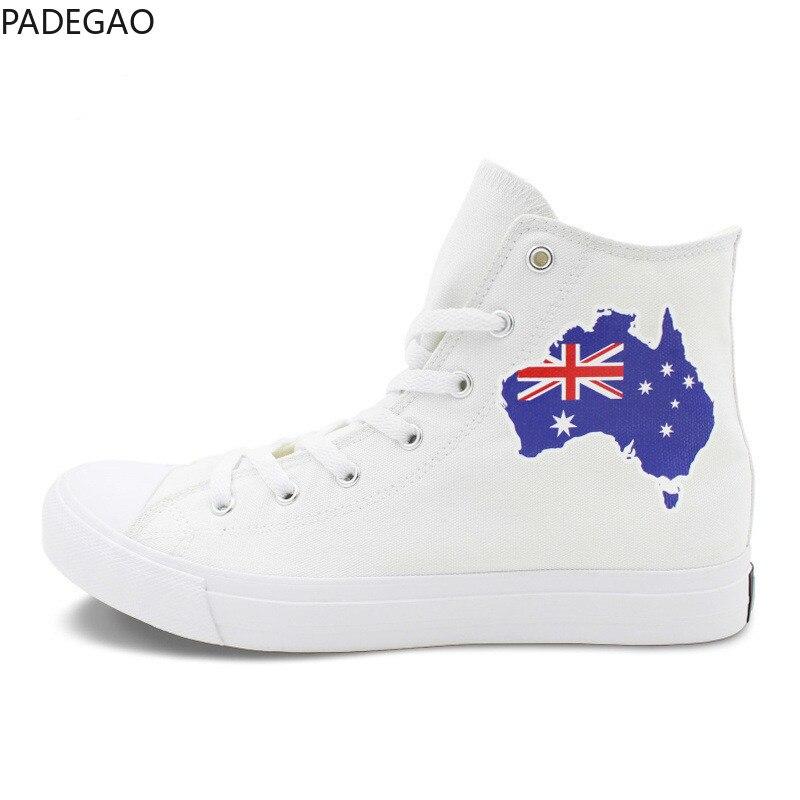 Étudiant Blanc Toile Sneakers forme Drapeau École Femmes Tendance Australien mam Plate National Vent Chaussures Temps Ventilation rrpOTqZ