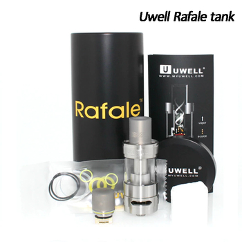 Original Uwell Rafale Sub ohm Tank 5ml Vaping the Rafale 0.2ohm Parallel SS Coil Pyrex Glass Tank