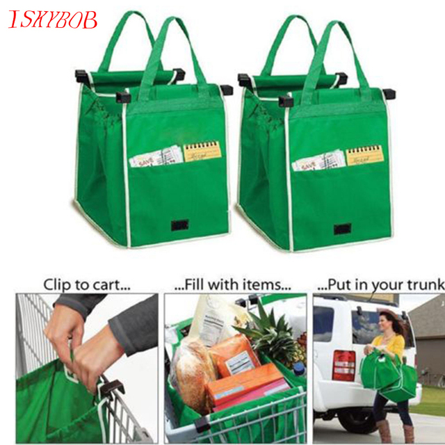 Creative Grab Bags Shopping Bag Reusable Eco Friendly Clips To Your Cart Bags zg