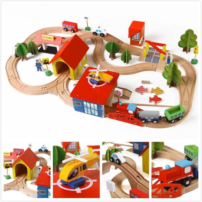 Игрушечный поезд транспортных средств для детей игрушки поезд Thomas игрушечные модели автомобилей деревянный автомобиль головоломки здание...