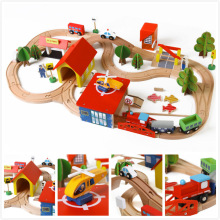 Diecasts Toy Vehicles Kids Toys Thomas train Toy Model Cars wooden puzzle Building slot track Rail transit Parking Garage 3119