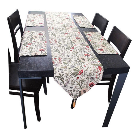 Ikea style home decor flowers jacquard tablecloth table runner u0026 placemat set -in Table Runners from Home u0026 Garden on Aliexpress.com | Alibaba Group  sc 1 st  AliExpress.com & Ikea style home decor flowers jacquard tablecloth table runner ...