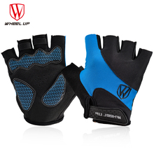 WHEEL UP Half Finger Mens Womens Summer Bicycle Gloves Cycling MTB Mountain Sports Bike Mittens