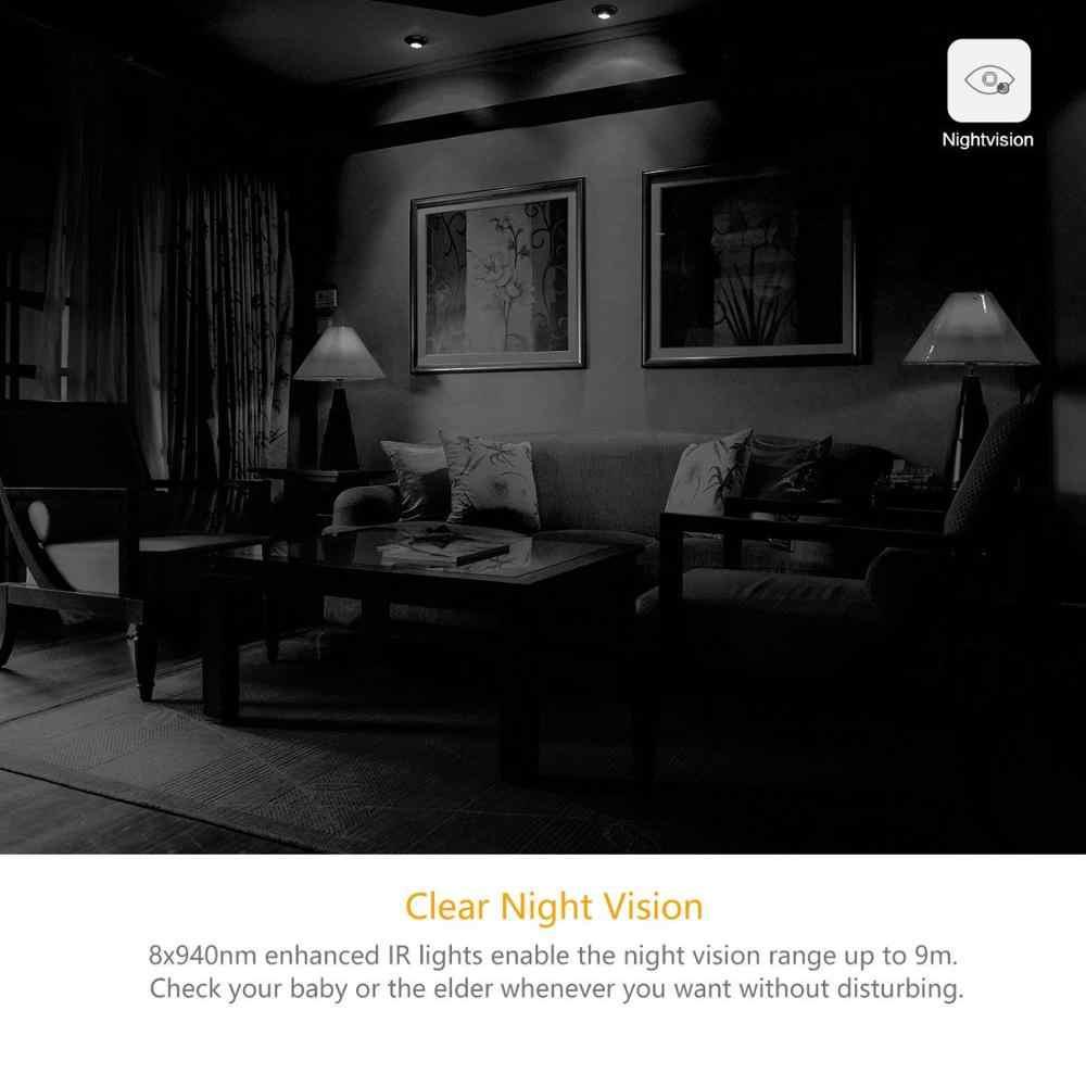 يي 1080P كاميرا منزلية كاميرا مراقبة أي بي اللاسلكية واي فاي نظام مراقبة الأمن مراقبة الطفل للرؤية الليلية النسخة العالمية يي سحابة الاتحاد الأوروبي